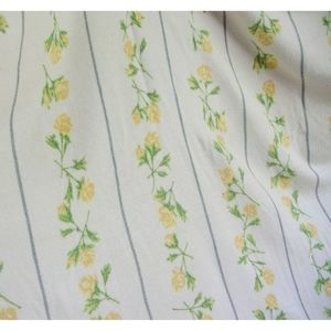 Rare VTG 1940's Chatham Purrey Yellow Rose Blanket